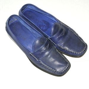 Cole Haan Penny Navy Blue Leather Loafers 7